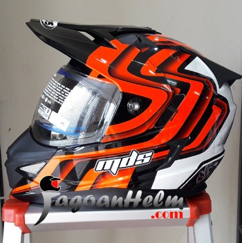 harga Mds helm super pro #1 fluo fullface ringan supermoto Tokopedia.com