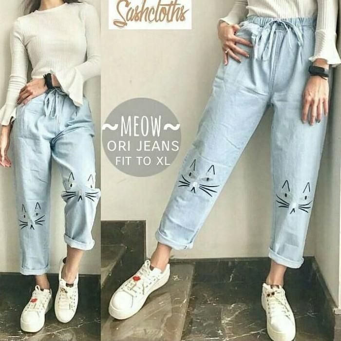 32e45755901 Meow pants / baggy jeans / ripped celana harga ...