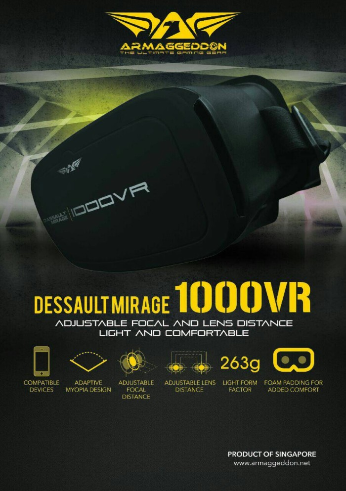 harga Virtual reality armaggeddon 1000 vr / virtual reality murah / 1000 vr Tokopedia.com