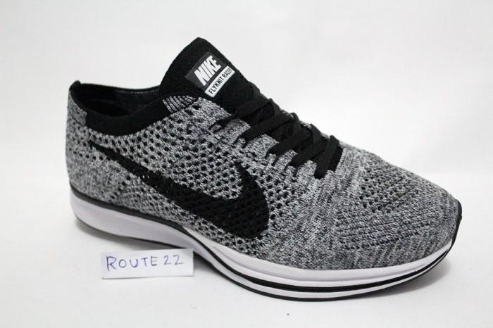 bb6fe23439ec9 Jual Sepatu Sport Casual Nike Flyknit Racer Oreo 1.0 Premium High ...