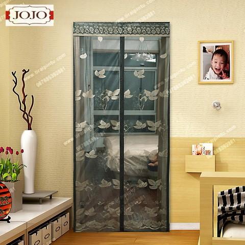 harga Tirai magnet full jahit motif taiwan daun emas - hitam Tokopedia.com