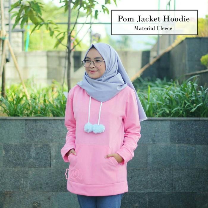 Jual Pom Jacket Hoodie Pink Mirable Outfit Hijab Murah Kota Bandung Mirable Store Tokopedia