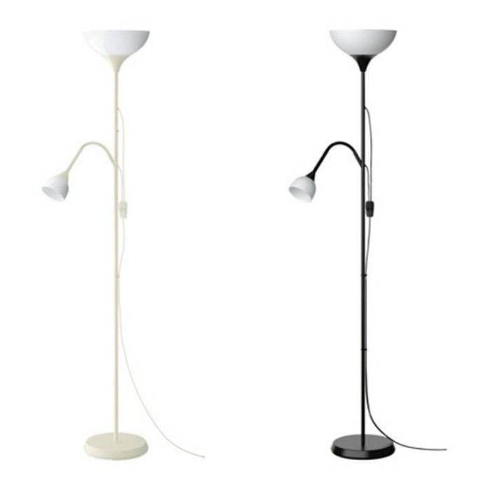 Ikea Not | Lampu Lantai Sorot Atas / Lampu Baca | Hitam / Putih
