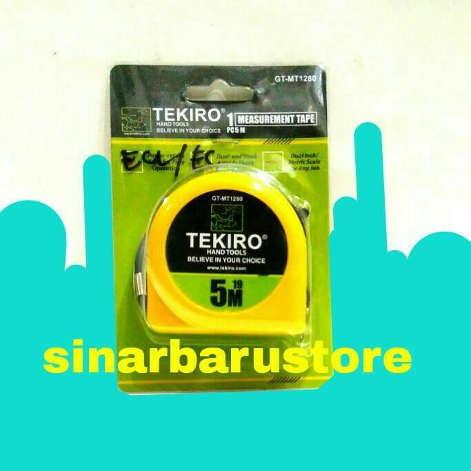 Jual Meteran Tekiro GT - MT1280 5 Meter (Measurement Tape) - SinarBaruStore   Tokopedia