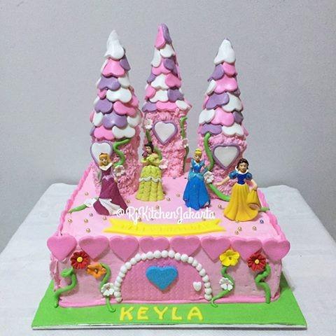 Jual Kue Ulang Tahun Princessprincess Disney Cake Kota Serang Rj Kitchen Jakarta Tokopedia