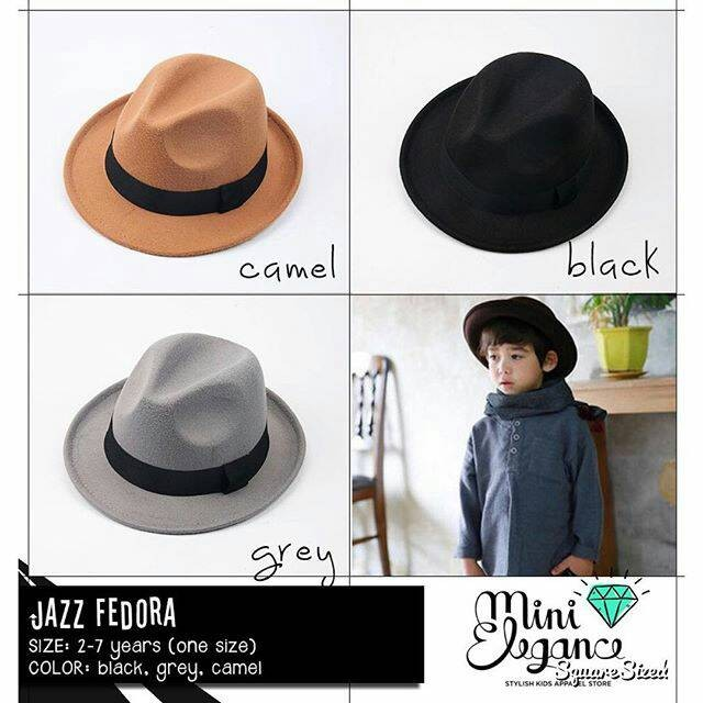 Jual JAZZ FEDORA - Kids cowboy hat - topi koboi anak - Mini Elegance ... 5e192ae1b9