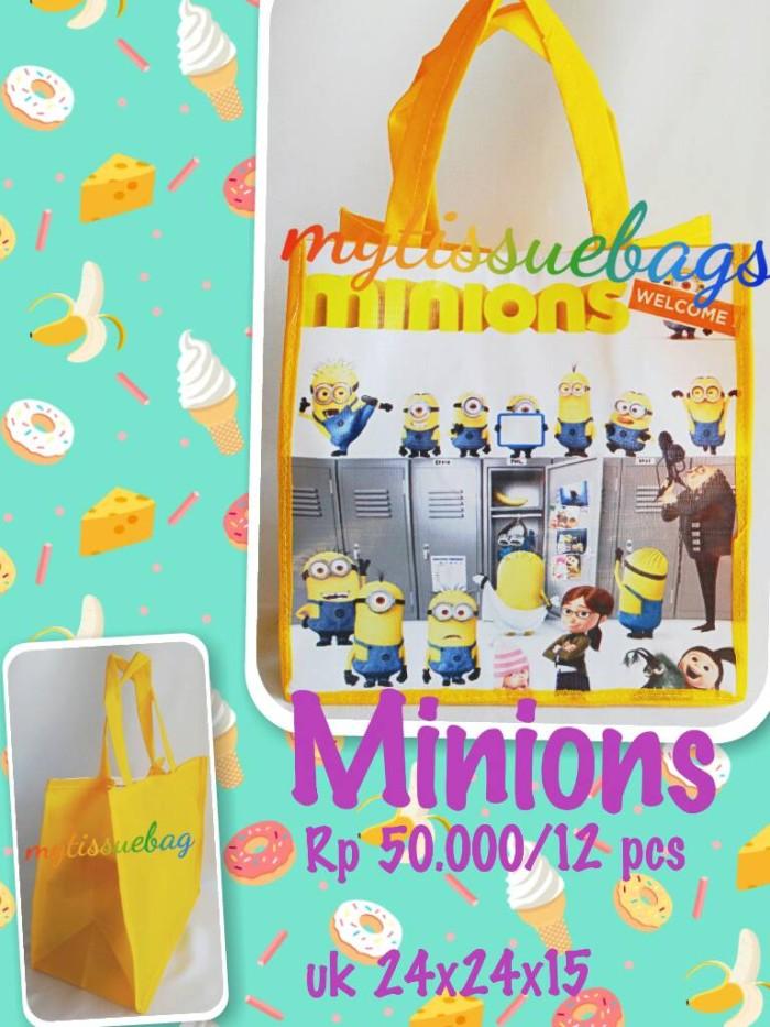 Jual tas ulang tahun minions/souvenir goodiebag ultah