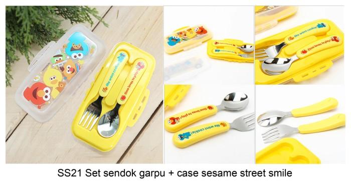 harga Set sendok garpu + case sesame street ori korea Tokopedia.com
