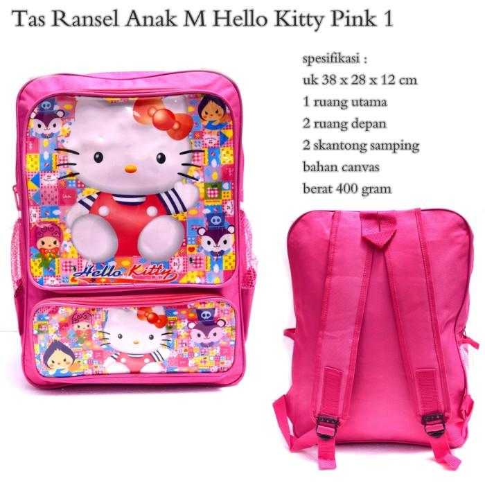 harga Tas ransel anak m hello kitty pink Tokopedia.com