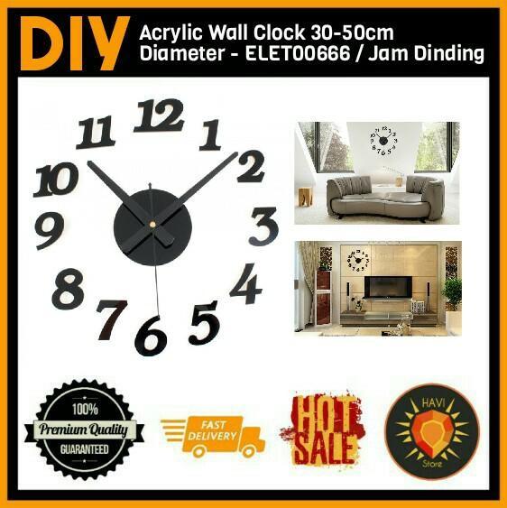 Jual Jam Dinding   Wall Clock Unik Minimalis Diameter 30-50cm ... 8187f1e990