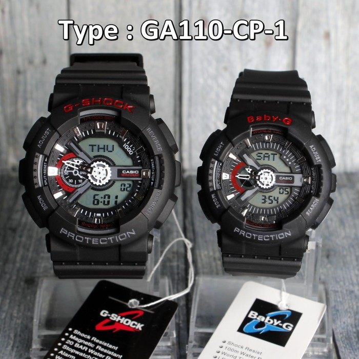 Jual Jam Tangan Couple   Pasangan G-Shock GA110 BLACK LIST RED ... 1bf72f48a0