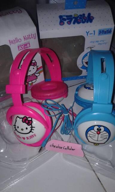harga Headphone/headphone bando karakter doraemon dan hello kitty Tokopedia.com