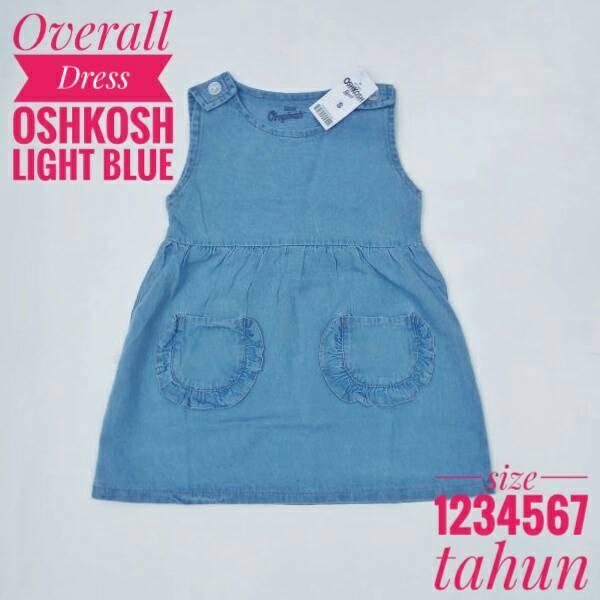 Jual 1 2 3 4 5 tahun baju overall dress jeans anak perempuan oshkosh bgosh - CLODI ONLINE ...