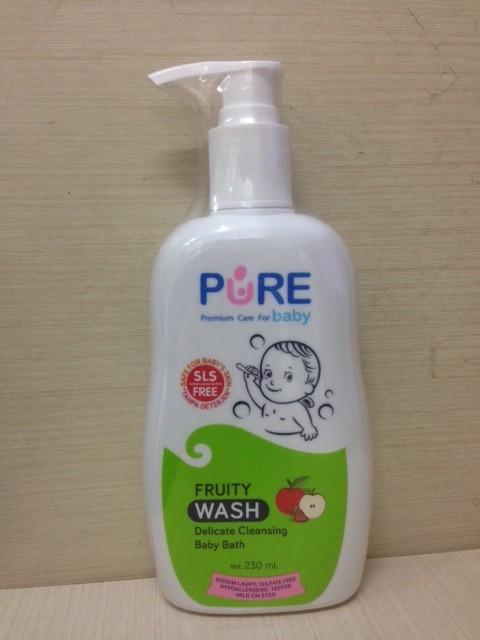 PUREBABY WASH 2IN1 FRUITY 230 ML / SABUN MANDI BAYI