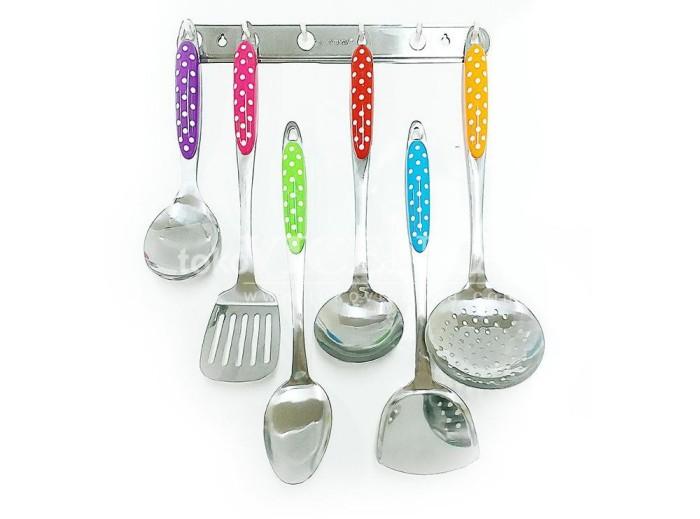 Kitchen tools set vicenza 915 polkadot alat masak