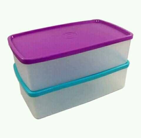 Pak n Stor (1) satuan ungu dan biru Tupperware