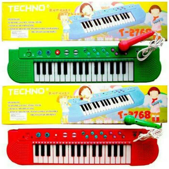 harga Mainan edukatif / edukasi anak tecno piano keyboard mic karaoke musik Tokopedia.com