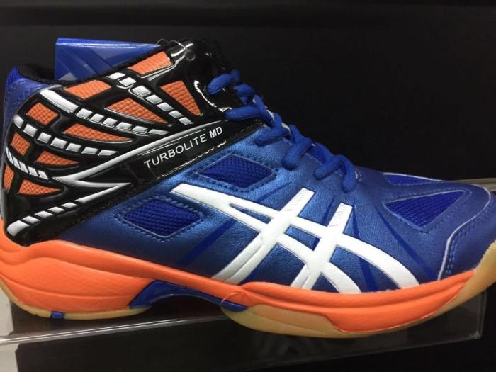 Jual Sepatu Volley Professional Turbolite Md Blue Black Original 100 ... 5f370afec7