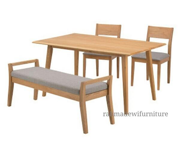 harga Meja kursi makan minimalis kayu jati modern retro scandinavian Tokopedia.com