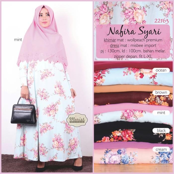 Baju Muslim Dress Gamis Khimar Syari NAFIRA SYARI