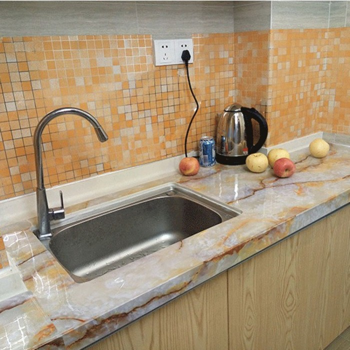 Wallpaper Stiker Sticker Untuk Dinding Dapur Anti Panas Air Minyak