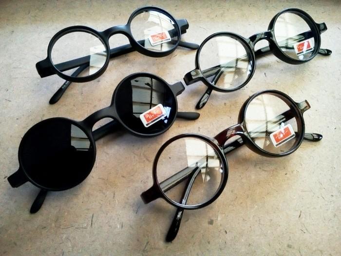 Jual Kacamata Bulat Lingkaran Frame Tebal Pria Wanita Murah New ... d984cc3253