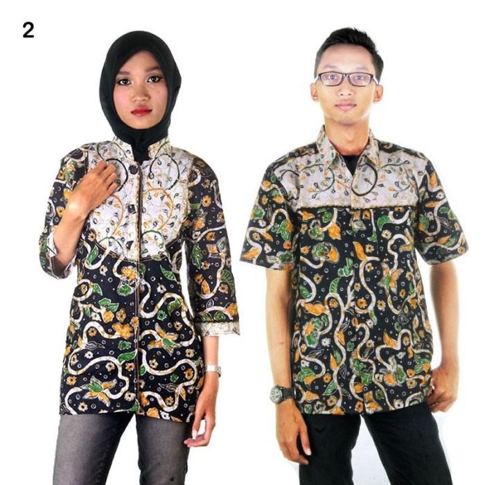 harga Batik couple | sarimbit blus batik adijaya - hitam Tokopedia.com
