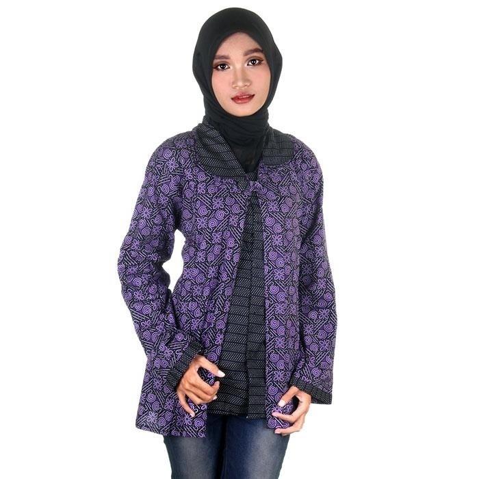 harga Blouse wanita i blus batik i blus kerja wanita batik alisa 3 Tokopedia.com