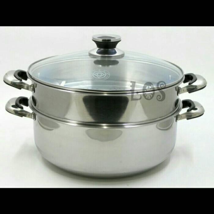 harga Panci 2 susun besar kukus tim dimsum siomay bakpao masak rebus steam Tokopedia.com