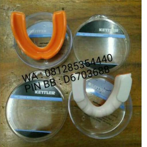 Gumshield / Pelindung Gigi / Kettler kettfit mouth guard-putih/orange