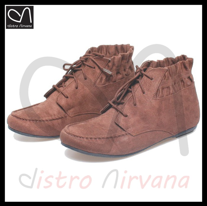harga Sepatu boots wanita casual flat shoes fashion distro kasual boot cewek Tokopedia.com