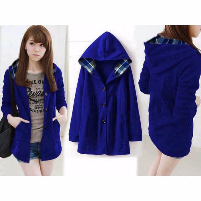 harga Pakaian wanita jaket hoodie melda biru elektrik Tokopedia.com