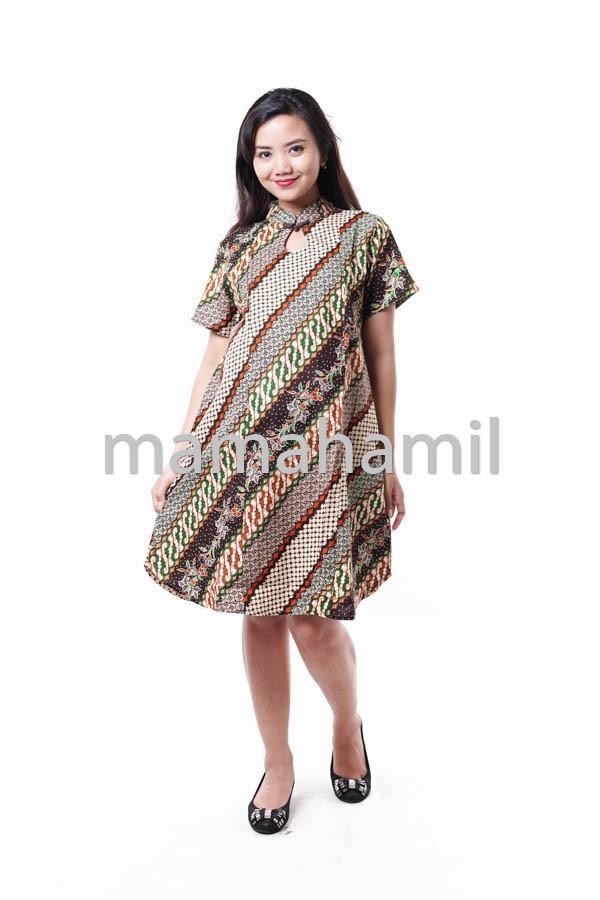 Jual Baju Hamil Dress Batik Menyusui Turtle Neck - DRO 803 - Mama ... 36edc471ee