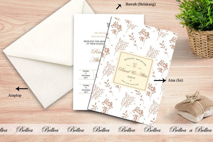 Jual Surat Undangan Pernikahan Soft Cover Model Amplop