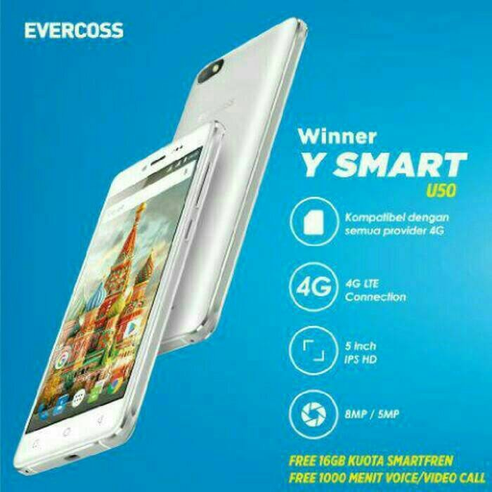 harga Evercoss u50 winner y smart - 4g lte - ram 1gb - free powerbank Tokopedia.com