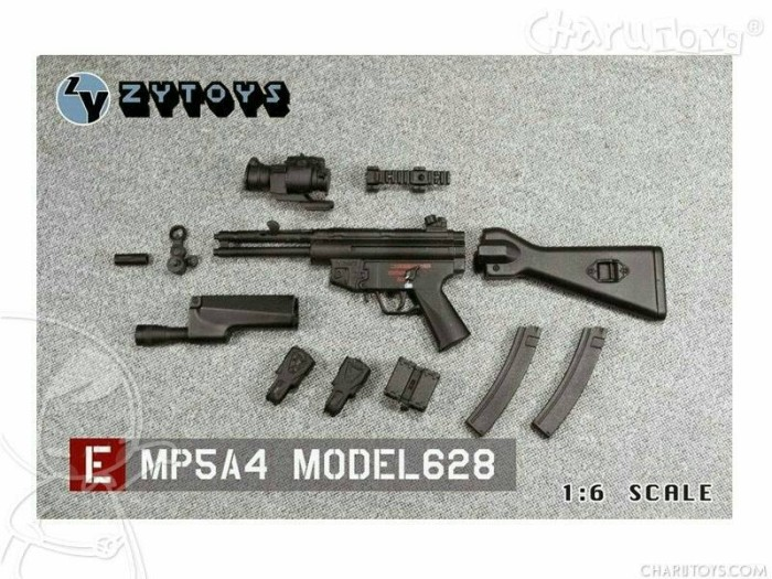 Foto Produk 1/6 Scale MP5A4 Model628 for Hot toys dari Charu Toys