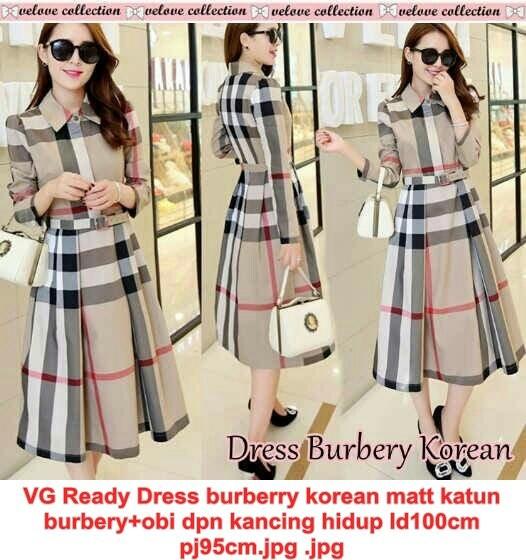 harga Vg Ready Dress Burberry Korean Tokopedia.com