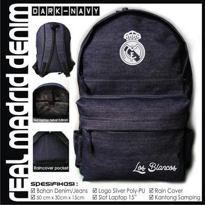 harga Tas ransel / backpack / bodypack / punggung real madrid denim Tokopedia.com