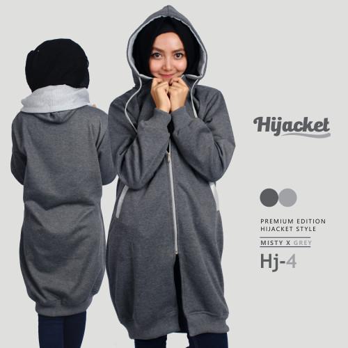 harga Jaket sweater wanita hj4 - hijacket misty x grey Tokopedia.com 302bcf1734