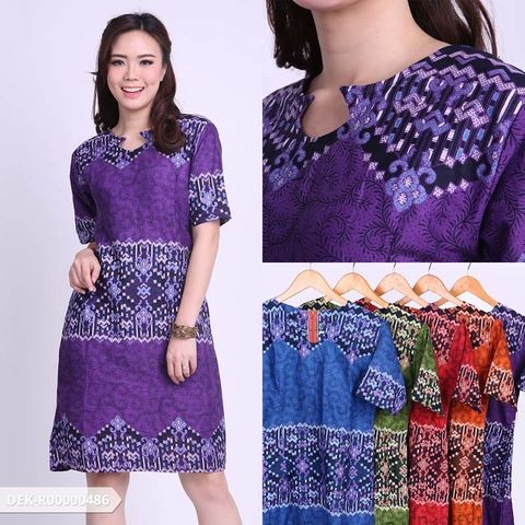 Buareva Batik Bodycon Mini Dress