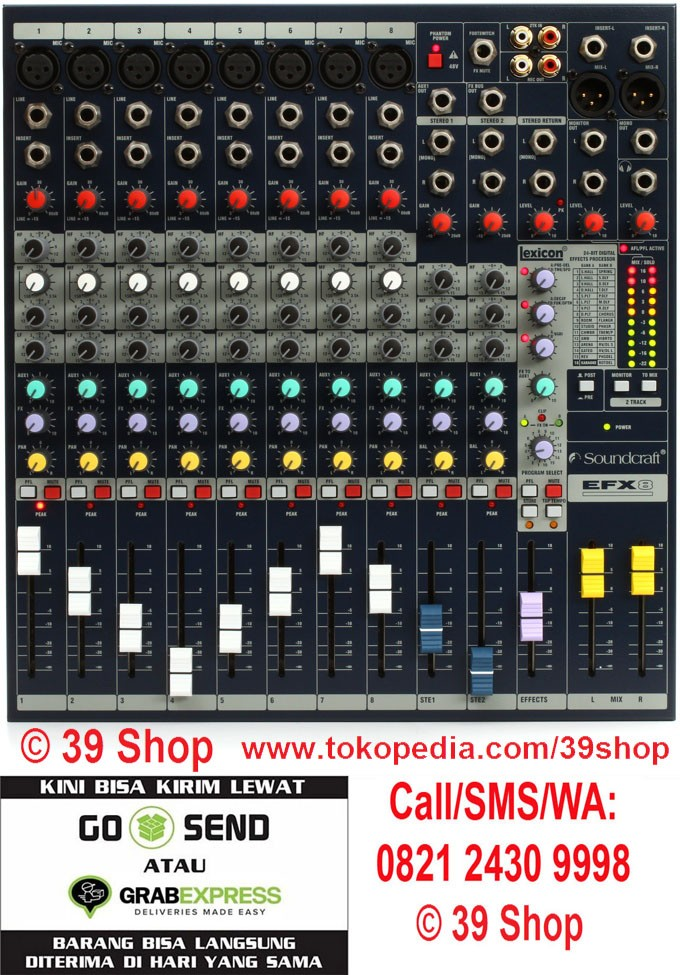 harga Mixer audio soundcraft efx 8 (8 channel) Tokopedia.com