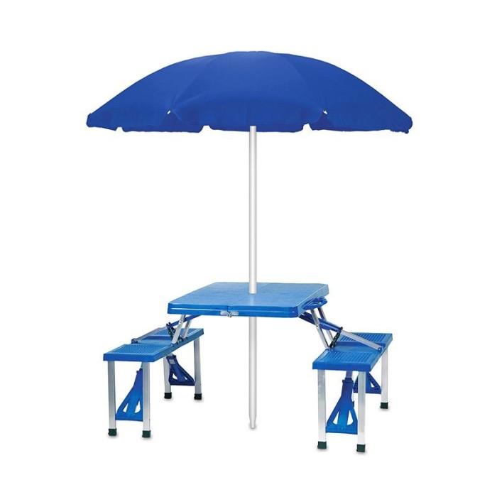 Meja payung piknik lipat