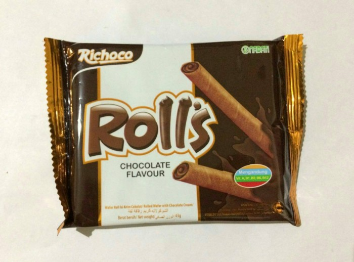 Richoco Nabati Roll's (Chocolate Wafer Stick) - 1 Pcs