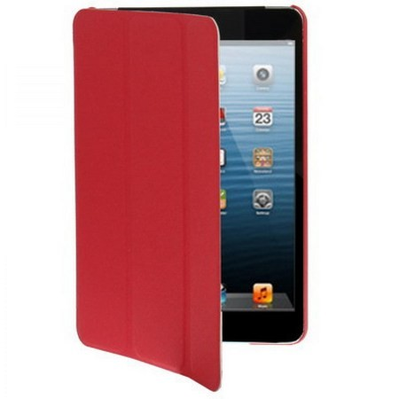 harga Jm1106 - 3 Fold Leather Case Ipad Mini 1 / 2 / 3 Red Tokopedia.com