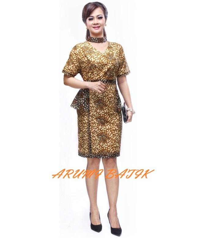 harga Dress terusan blouse atasan baju seragam wanita batik 1879 akar Tokopedia.com