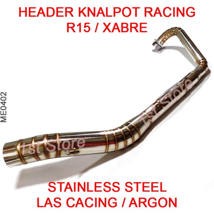 harga Header pipa knalpot racing yzf-r15 r15 xabre stainless leheran leher Tokopedia.com