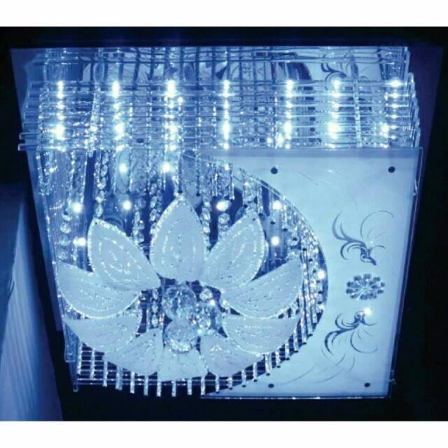 harga Lampu hias plafon led design bunga kembang ukuran 50cm x 50cm remote Tokopedia.com