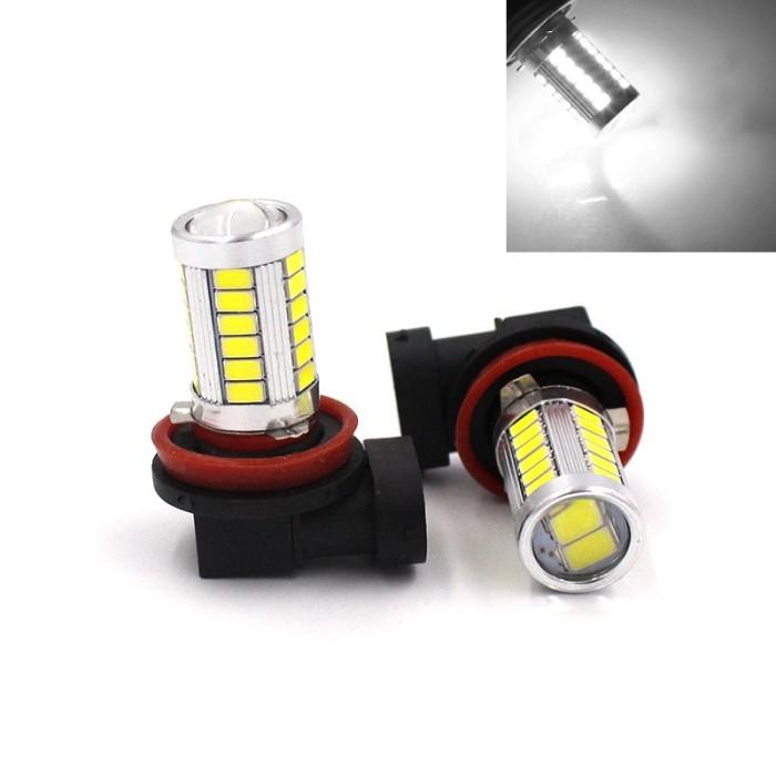 harga Lampu foglamp h11 led 33 titik lensa projector putih Tokopedia.com