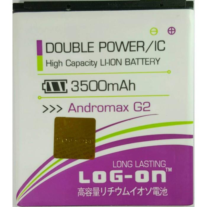 Foto Produk Baterai Log On Andromax G2 Double Power IC Batre Baterei Battery Di dari Toko Murah Group