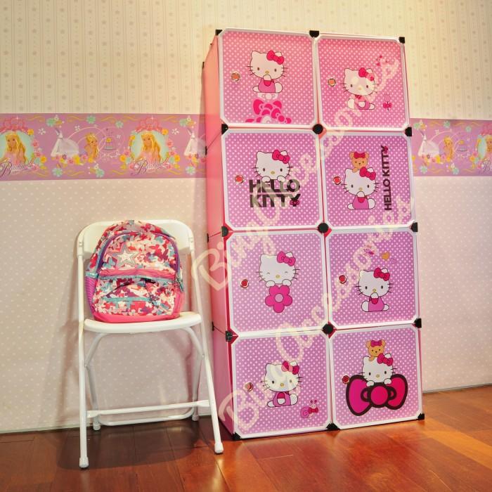 harga 41-5 rak 8 susun hello kitty ( pakaian sandal sepatu mainan anak ) Tokopedia.com
